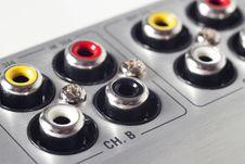 Free Macro Shot Of Audio Interface Connectors Royalty Free Stock Photos - 19052418