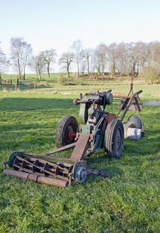 Free Old Mower Stock Photography - 19052972
