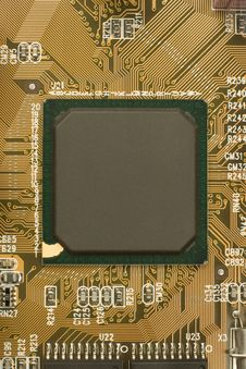 Free Black Chip Processor On Circuit Board Royalty Free Stock Photos - 19053278