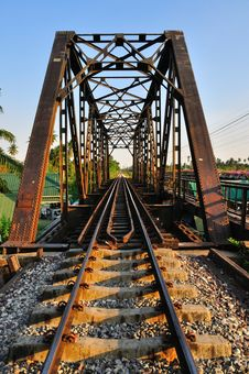 Free Railway Bridge In Bangkok, Thailand. Stock Photography - 19053872