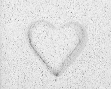 Free Chiselled Heart In Stone Stock Photos - 19054443