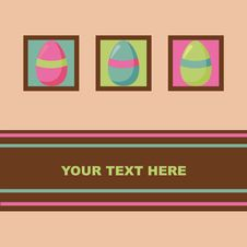 Free Cute Easter Card Stock Image - 19056761