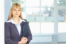 Free Young Business Woman With Papers Royalty Free Stock Photography - 19056807