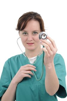 Free Doctor Working With Stethoscope Stock Photography - 19056842