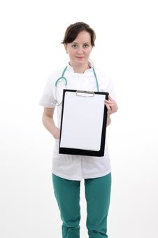 Free Doctor Showing Document Stock Photo - 19056950