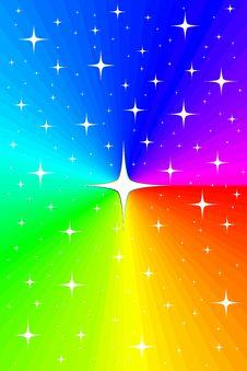 Free Rainbow And Stars Stock Photo - 19057050