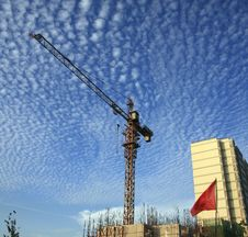 Free Cranes At Construction Site Royalty Free Stock Photography - 19057267
