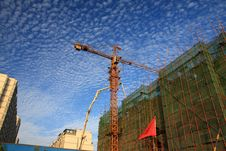 Free Cranes At Construction Site Stock Images - 19057274