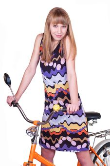 Free Girl On Bicycle Stock Photo - 19057630