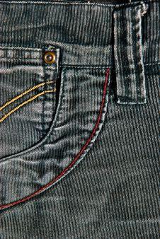 Corduroy Pants Detail Stock Images