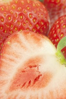 Free Close-up Of Cut Strawberry. Royalty Free Stock Photography - 19058097