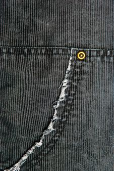 Corduroy Pants Detail Stock Image
