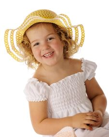 Free Pretty In Yellow Easter Bonnet Stock Photos - 19058383
