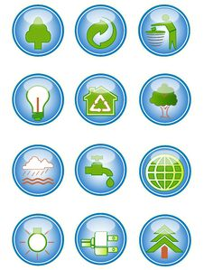 Free Environmental Conservation Icons Royalty Free Stock Photo - 19058415