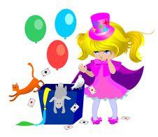 Free Little Girl Magician Stock Photos - 19058443