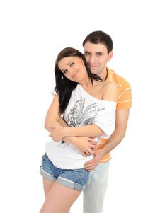 Sweet Young Summer Couple In Love Having Fun