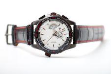 Free Men S Black Wristwatch Royalty Free Stock Images - 19059009