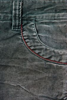 Corduroy Pants Detail Royalty Free Stock Images