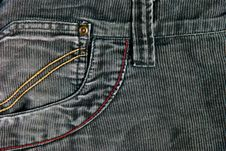 Corduroy Pants Detail Royalty Free Stock Photos