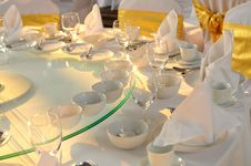 Free Table Set Royalty Free Stock Image - 19059406