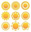 Free Set Of Suns. Stock Photo - 19060800