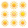 Free Set Of Suns. Stock Images - 19060814