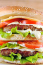 Free Hamburger With Cutlet Royalty Free Stock Photos - 19062538