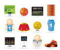 Free Basketball And Sport Icons Stock Photography - 19063272