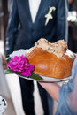 Free Wedding Bread And Flowers Stock Photography - 19066332