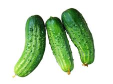 Free Cucumbers Over White Stock Photos - 19060473