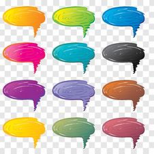 Free Vector Bubbles For Speech. Royalty Free Stock Photos - 19060508