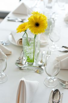 Free Gerbera Daisy Flowers On The Table Stock Image - 19060851