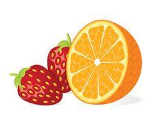 Free Orange And Strawberry Fruits Stock Photos - 19060913