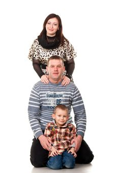 Free Portrait Of A Young Happy Smiling Family Stock Image - 19061221