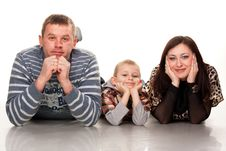 Portrait Of A Young Happy Smiling Family Royalty Free Stock Photos