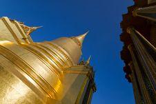 Free Stupa At Wat Phra Kaew, Bangkok, Thailand. Royalty Free Stock Photography - 19062517