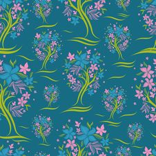 Free Vector Seamless Pattern From Trees Stock Image - 19063631