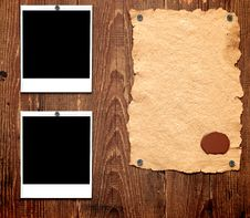 Free Old Paper And Photo Frames Stock Image - 19064881