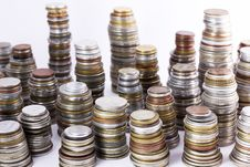 Free Coin Stacks Royalty Free Stock Image - 19065516