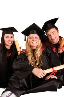 Free Group Of Happy Students Stock Image - 19065711