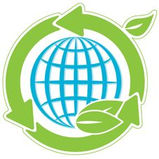 Free Blue Globe And Green Arrows Stock Image - 19065831