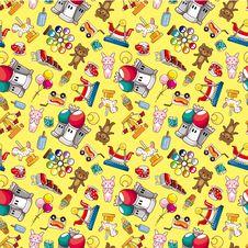 Seamless Playground Pattern Royalty Free Stock Image