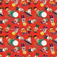 Seamless Rock Band Pattern Stock Photos