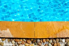 Free Stone Next To The Pool Royalty Free Stock Photography - 19067527