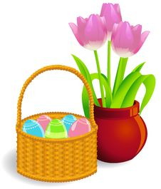 Free Easter Basket Royalty Free Stock Photos - 19067538