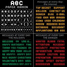 Free ABC Font From Paper Tape, Messages At Every Day Stock Photo - 19067600