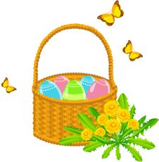 Free Easter Basket Stock Photography - 19067652