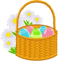 Free Easter Basket Royalty Free Stock Photo - 19067685