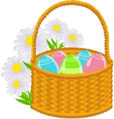 Free Easter Basket Royalty Free Stock Photo - 19067685