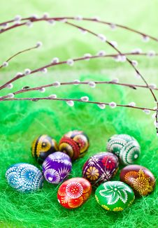 Free Easter Eggs Royalty Free Stock Photo - 19067935